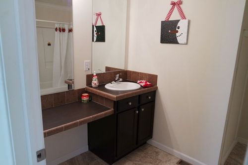 Bathroom-in-Christmas House-at-Crossland Homes-Greenville-in-Greenville