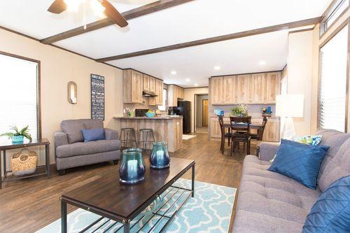 Greatroom-and-Dining-in-THE ANNIVERSARY 16-at-Clayton Homes-Texarkana-in-Texarkana