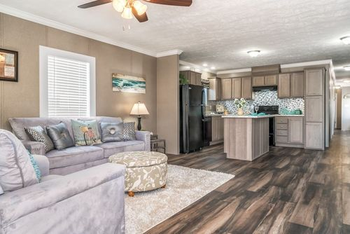 Greatroom-and-Dining-in-THE BISCAYNE-at-Crossland Homes-Candler-in-Candler