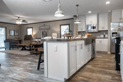 Greatroom-and-Dining-in-THE LITTLEFIELD-at-Clayton Homes-Lubbock-in-Lubbock
