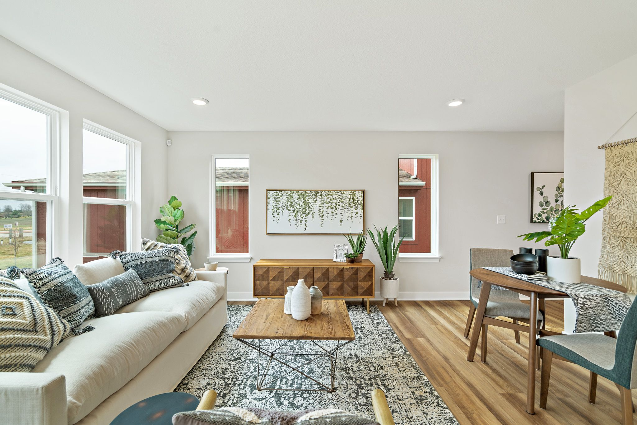 Living Area featured in the indigo - contemporary By clover & hive in Kansas City, MO