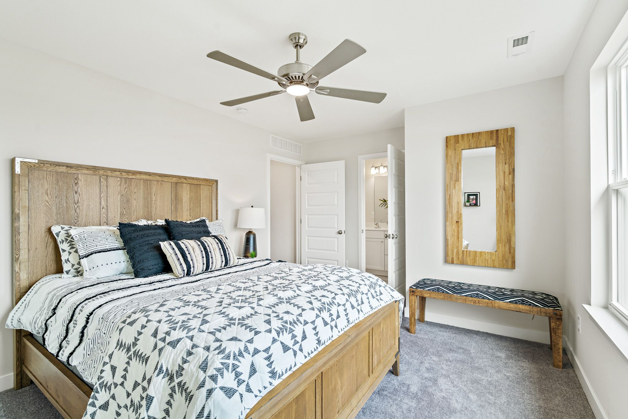 Bedroom featured in the indigo - contemporary By clover & hive in Kansas City, MO
