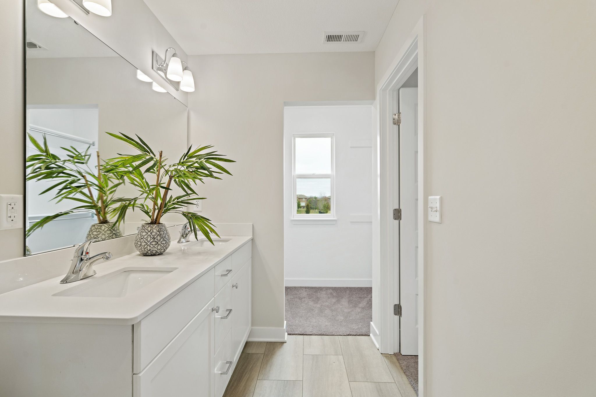 Bathroom featured in the indigo - contemporary By clover & hive in Kansas City, MO