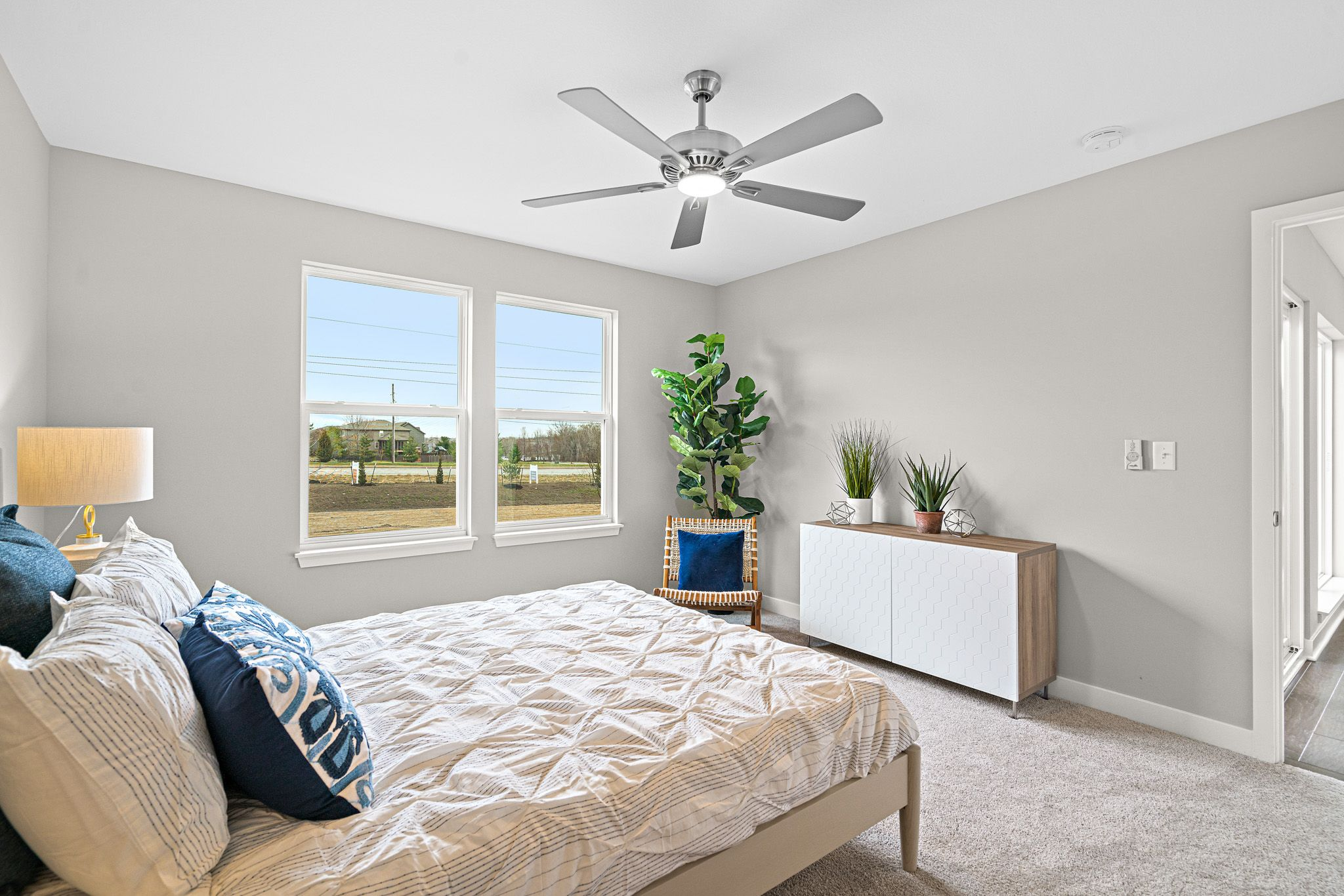 Bedroom featured in the sienna-contemporary By clover & hive in Kansas City, MO