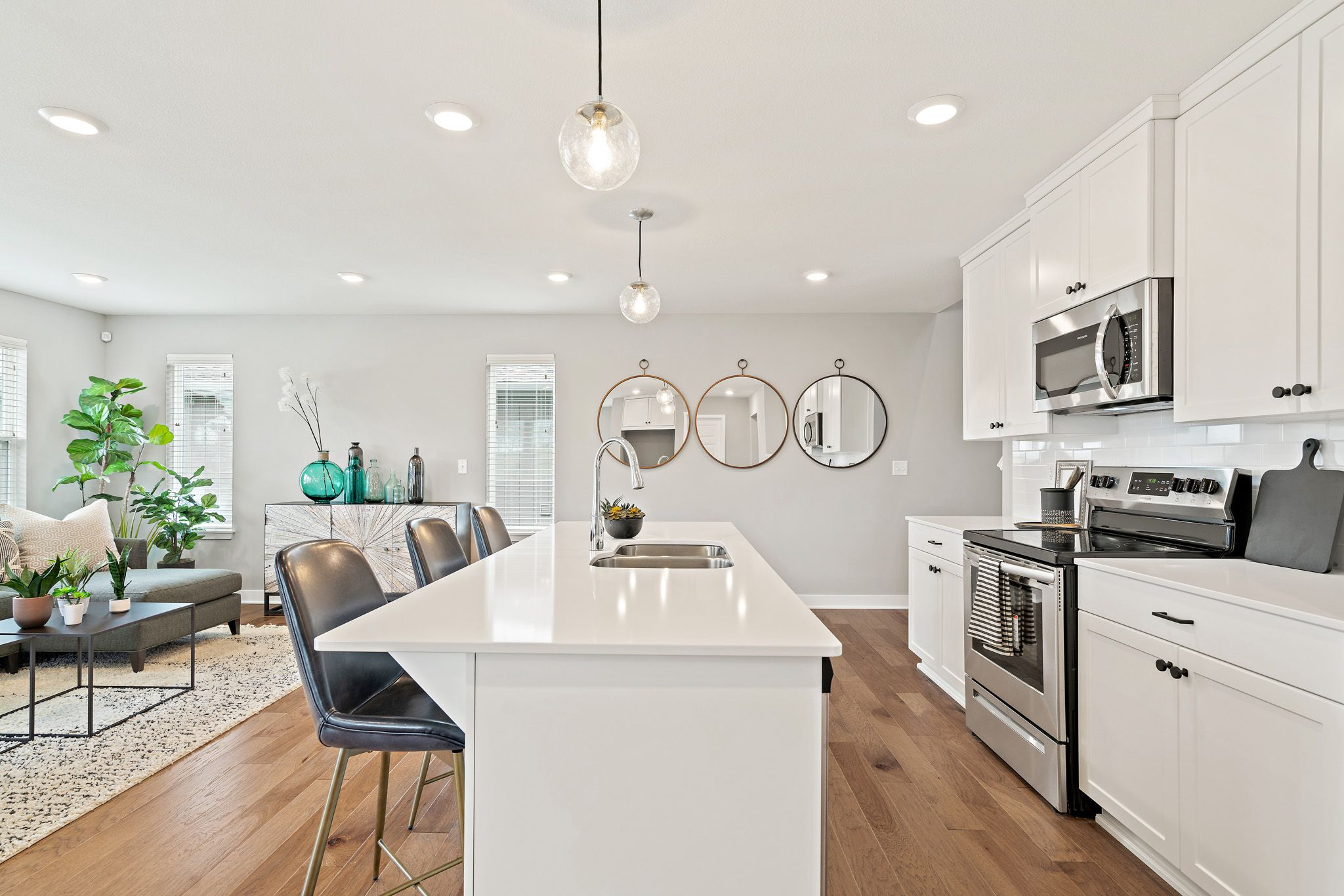 Kitchen featured in the honeydew - contemporary By clover & hive in Kansas City, MO