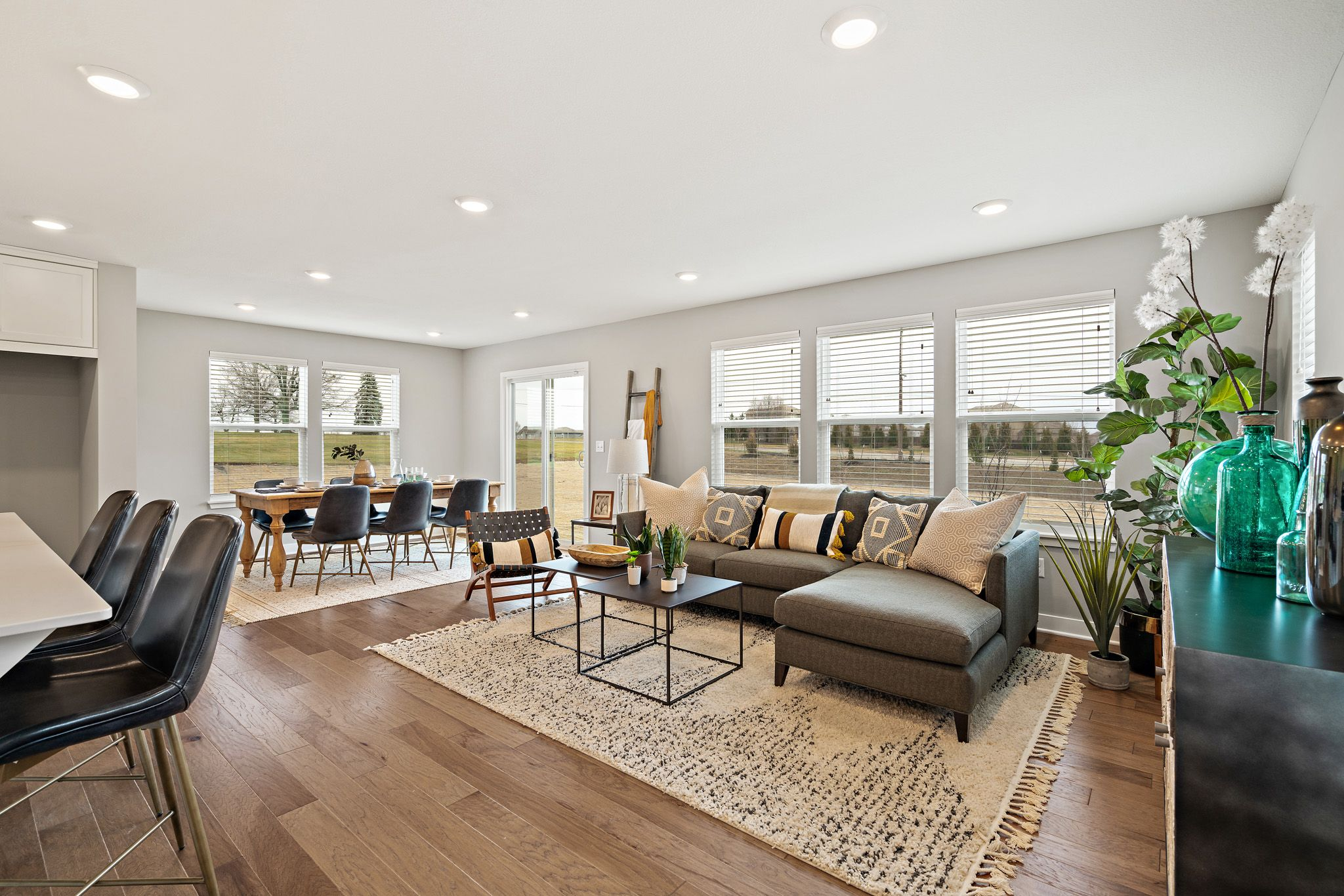 Living Area featured in the honeydew - contemporary By clover & hive in Kansas City, MO