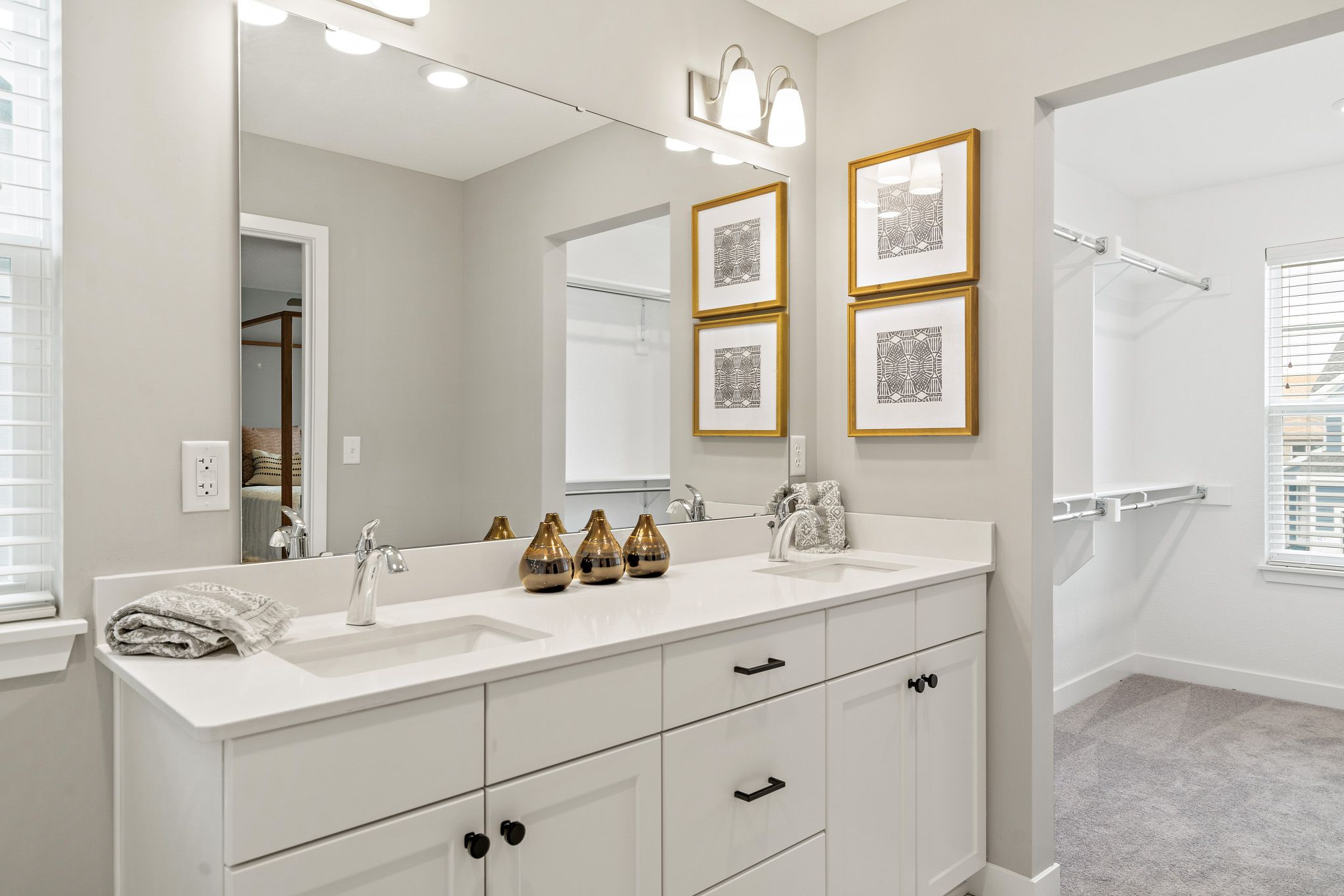 Bathroom featured in the honeydew - contemporary By clover & hive in Kansas City, MO