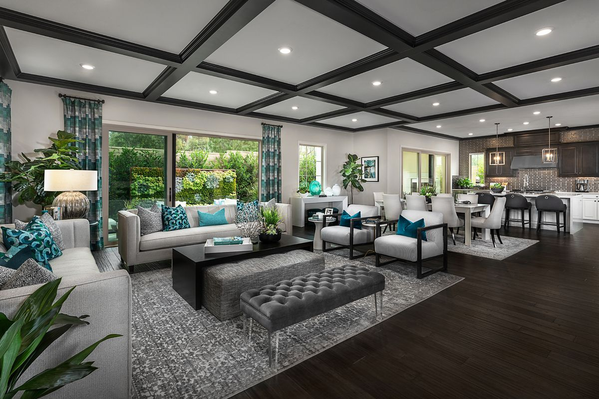 Living Area featured in the Residence Three By KB Home in Orange County, CA