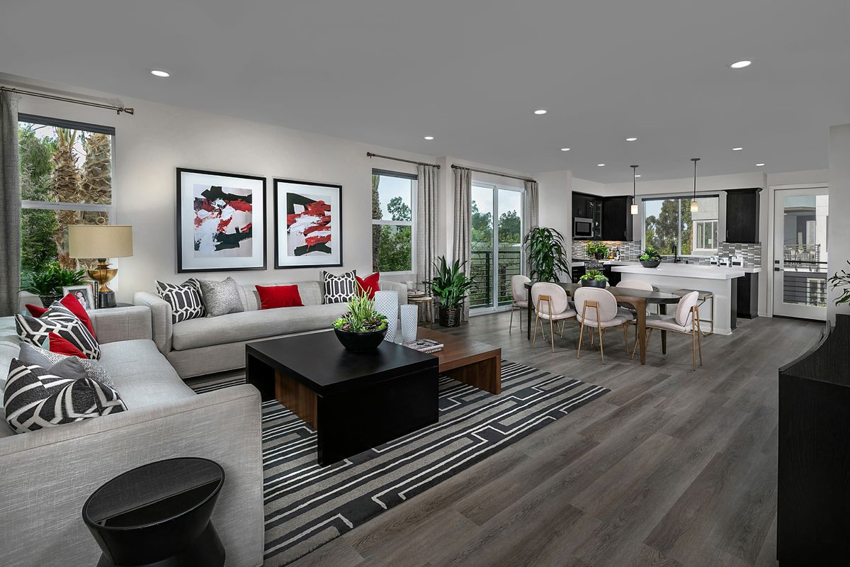 Living Area featured in the Residence Five By KB Home in Orange County, CA