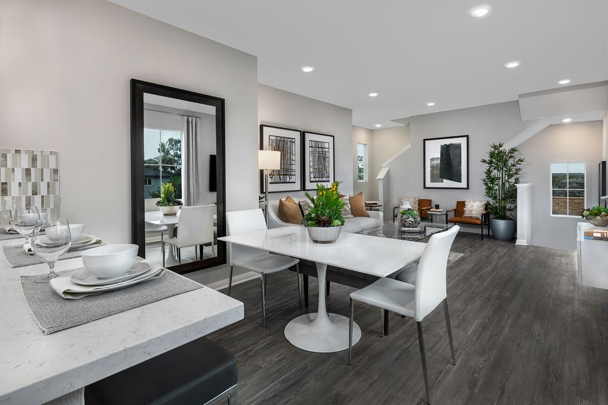 Living Area featured in the Plan 1270 Modeled By KB Home in Orange County, CA