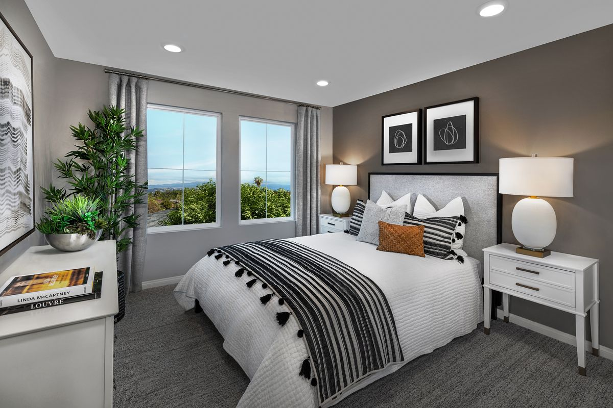 Bedroom featured in the Plan 1270 Modeled By KB Home in Orange County, CA