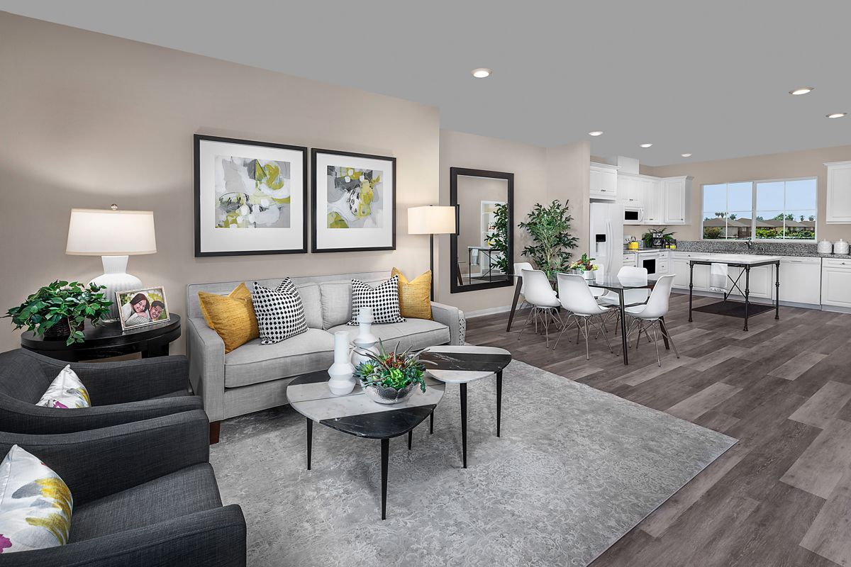 Living Area featured in the Plan 1541 Modeled By KB Home in Orange County, CA