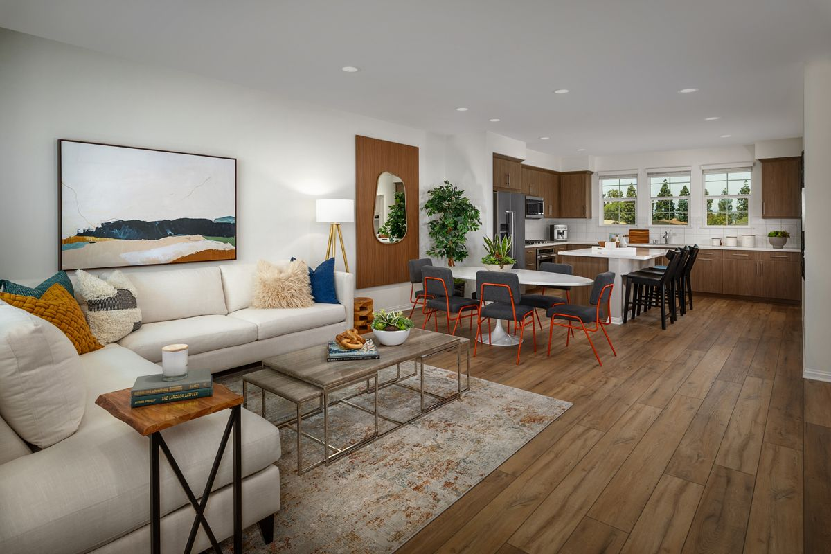 Living Area featured in the Plan 1778 Modeled By KB Home in Orange County, CA