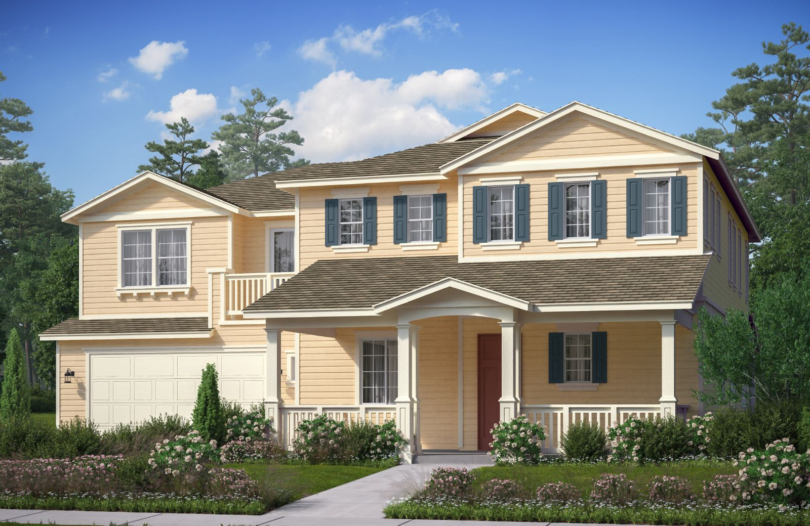 Exterior featured in The Orchards Residence 4 By Comstock Homes in Ventura, CA