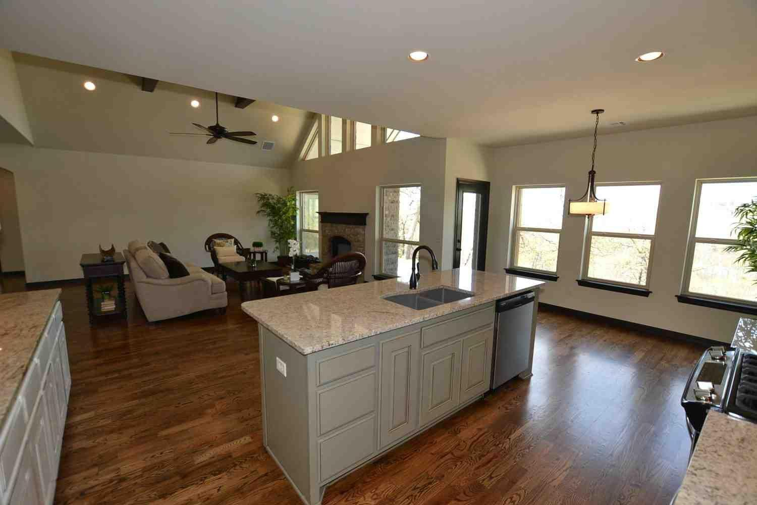 Living Area featured in the Woodland IV By Concept Builders, Inc in Tulsa, OK