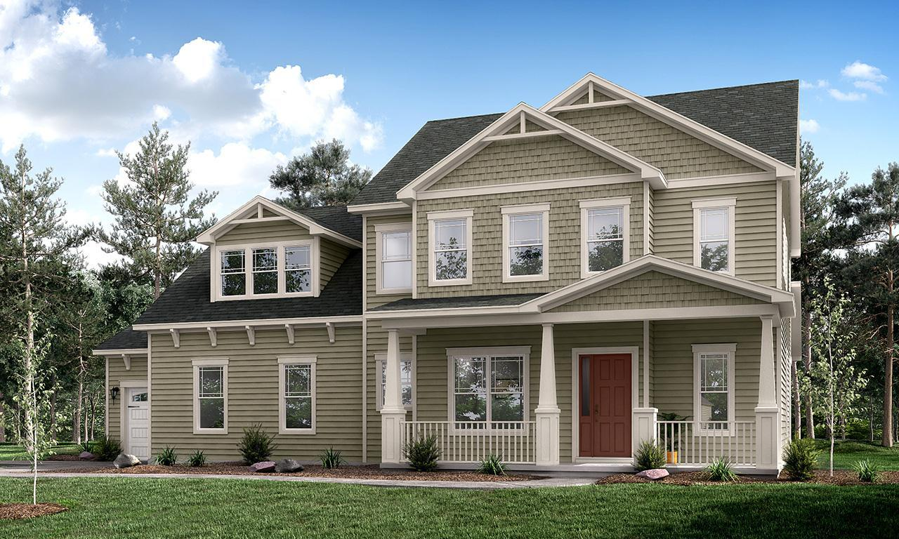 Exterior featured in the Princeton By Greybrook Homes in Charlotte, SC