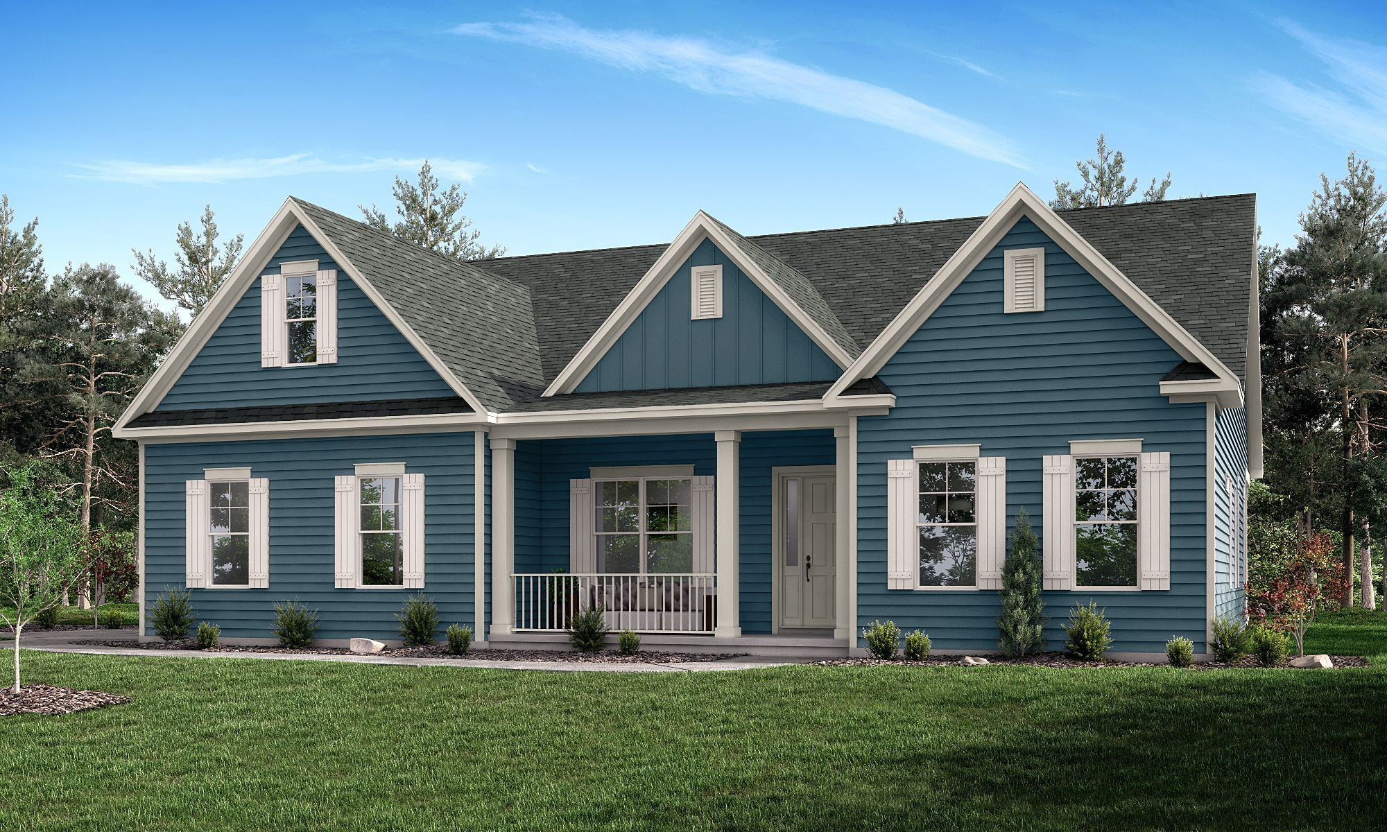 Exterior featured in the Columbia with Retreat By Greybrook Homes in Charlotte, NC