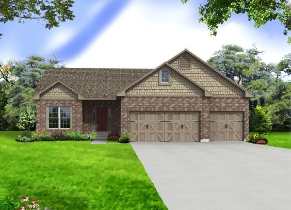 Davenport Elevation 6- Shown w/optional carriage style garage doors
