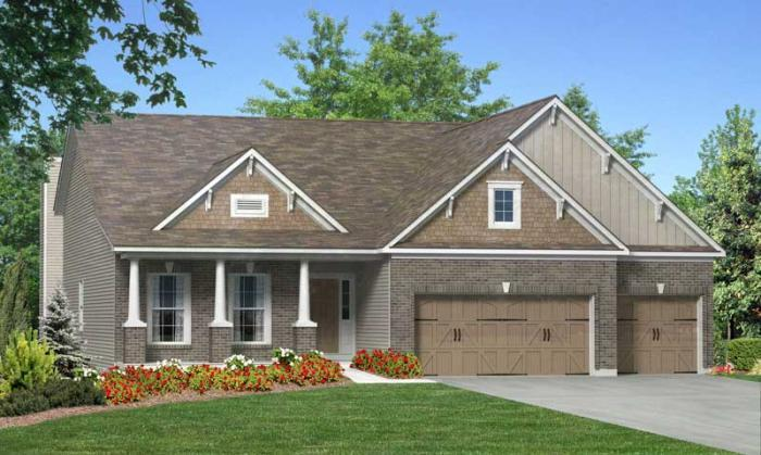 Rosemont Elevation 8- Shown w/optional carriage st