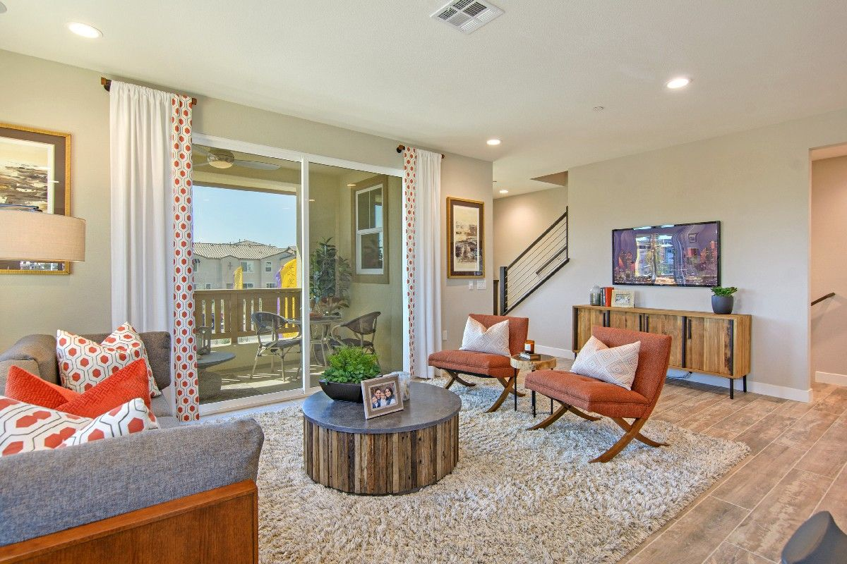 Living Area featured in the Residence 3 By Cornerstone Communities in San Diego, CA