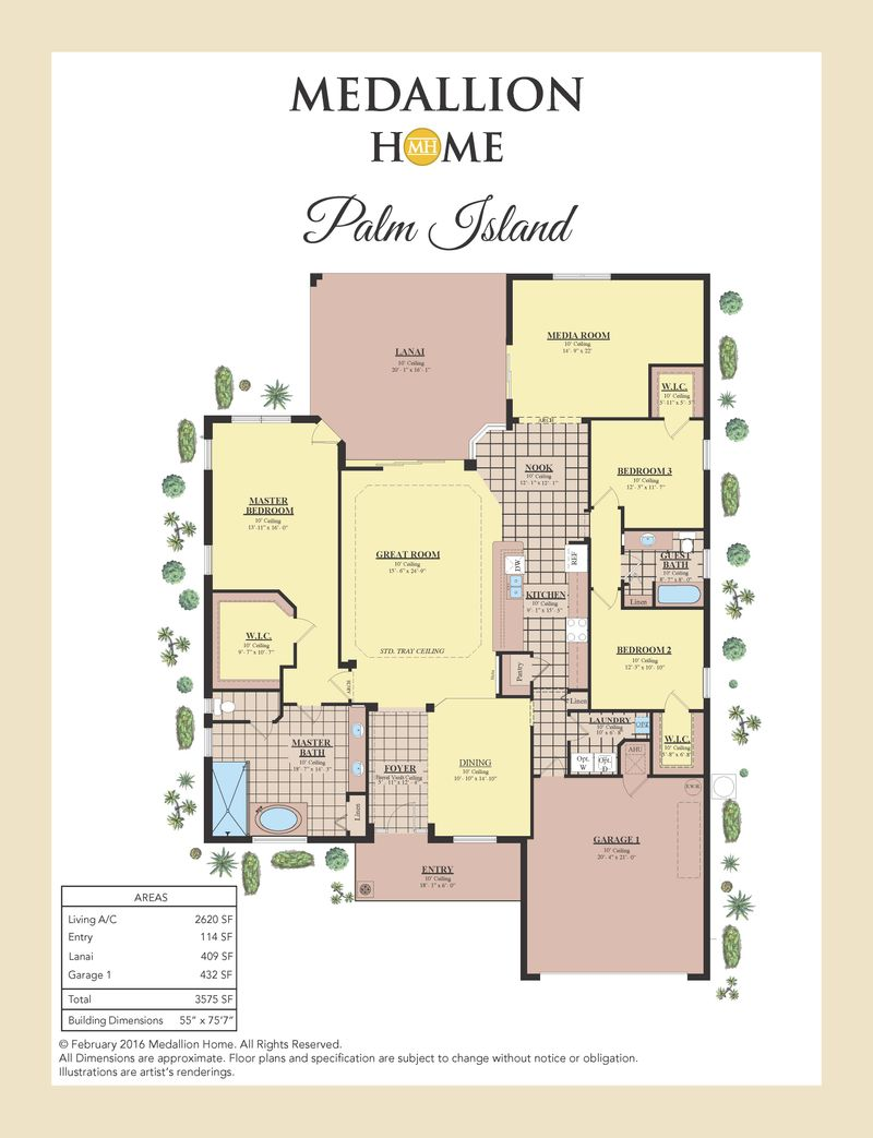 Palm Island Home Plan By Medallion Home In Lakes Of Mount Dora