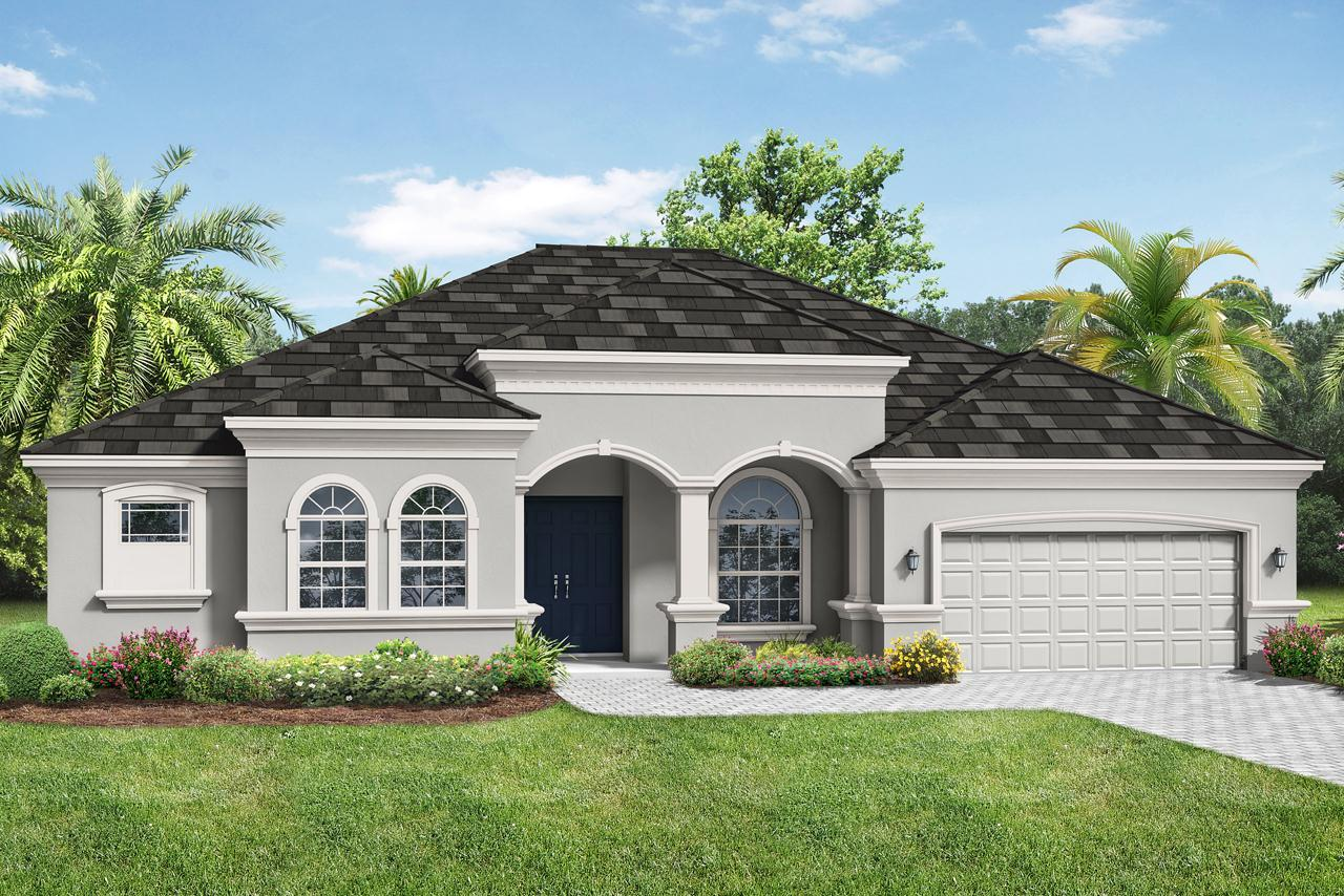 Exterior featured in the Barbados 2800 3 Car Garage By Medallion Home in Sarasota-Bradenton, FL