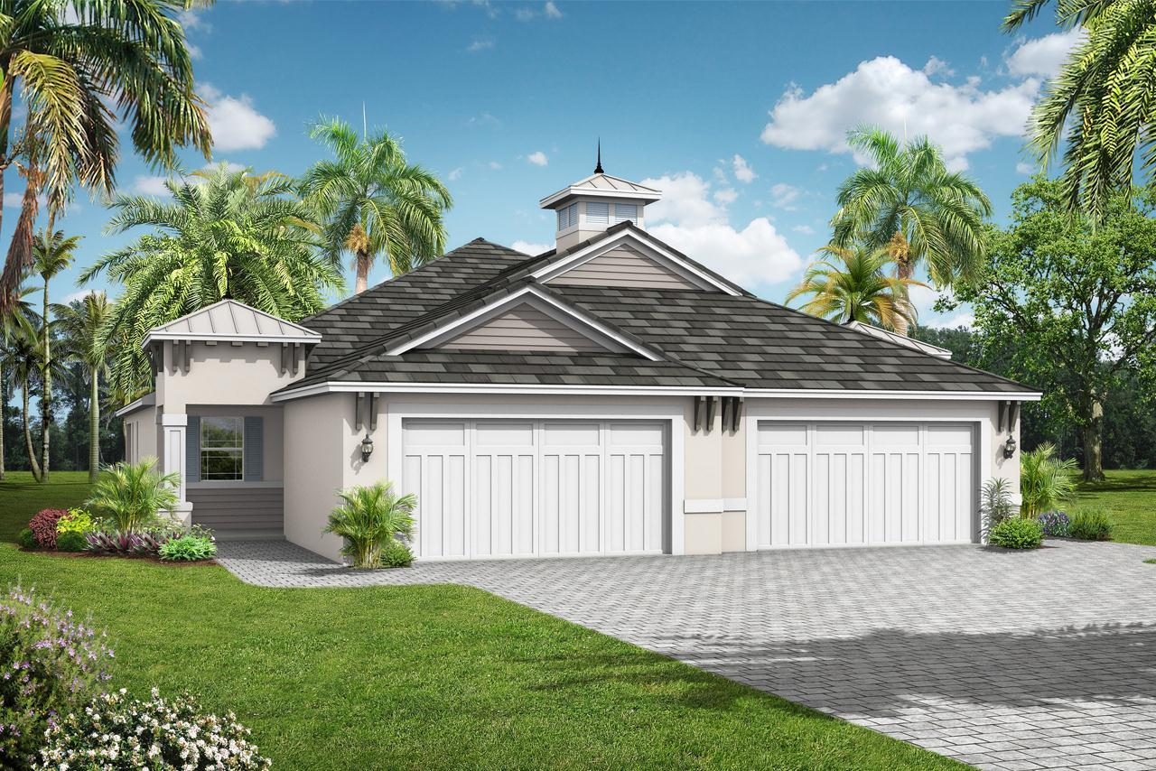 Exterior featured in the Sanibel Villa Home By Medallion Home in Sarasota-Bradenton, FL
