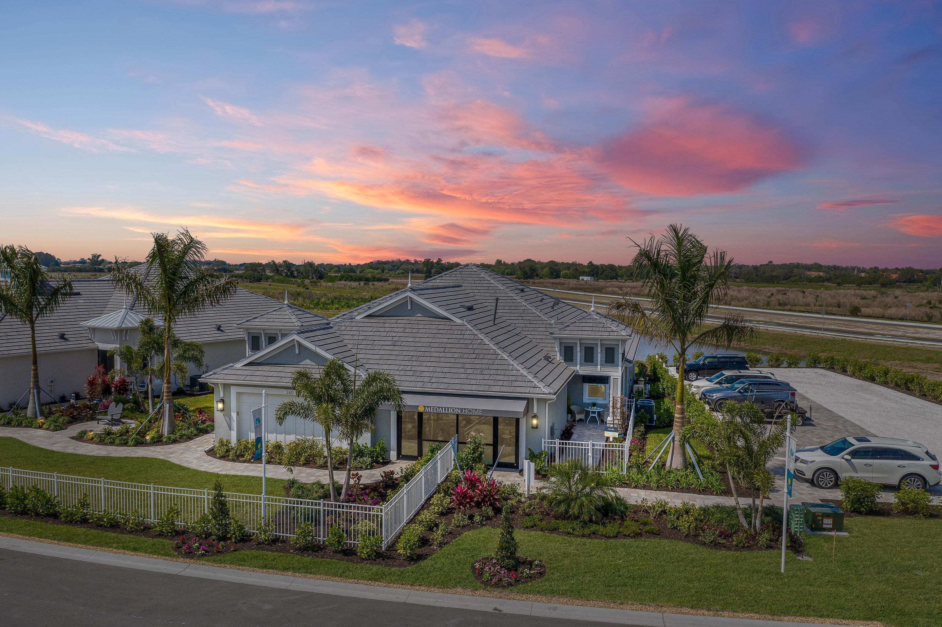 Exterior featured in the Sanibel Villa Home By Medallion Home in Sarasota-Bradenton, FL