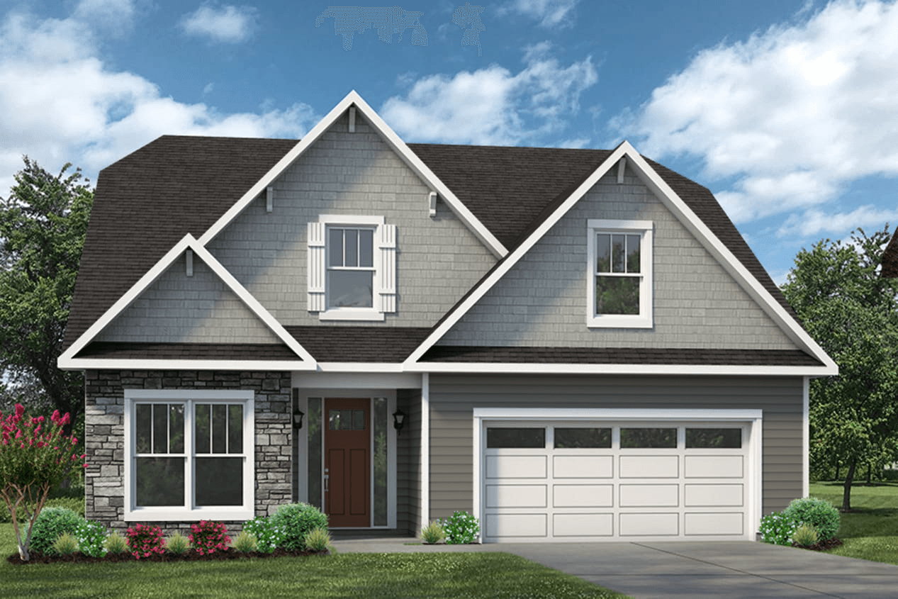 Exterior featured in The Hayden A By Cothran Homes in Greenville-Spartanburg, SC