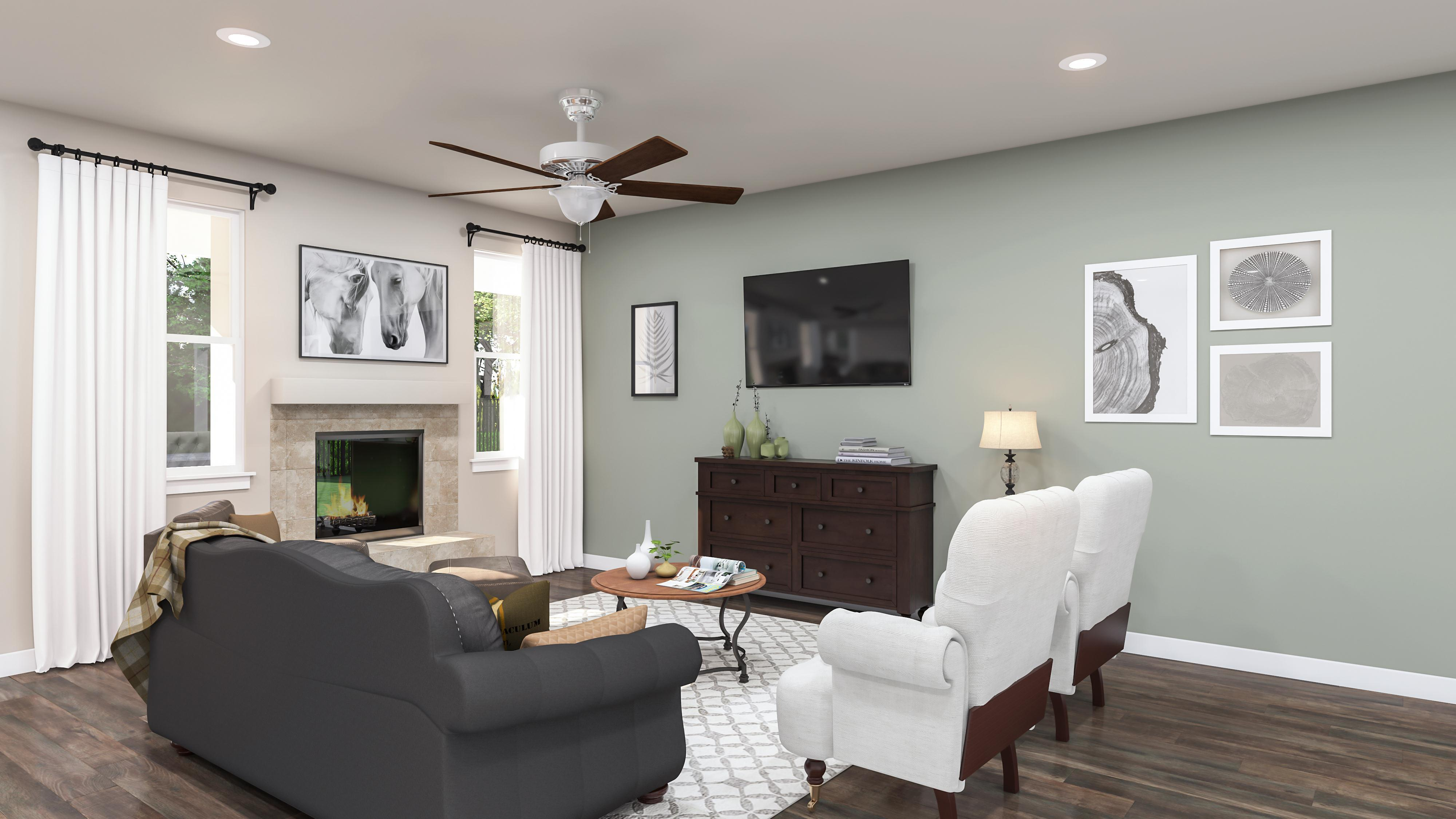 Living Area featured in the Marigold By Cottages at Carson Valley in Reno, NV