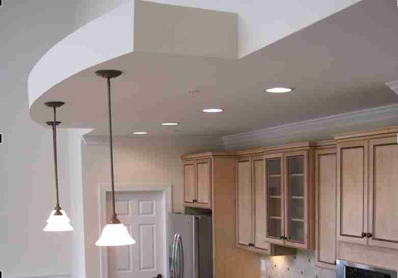 Kitchen (A1 Design) with Vaulted Ceiling in Great Room