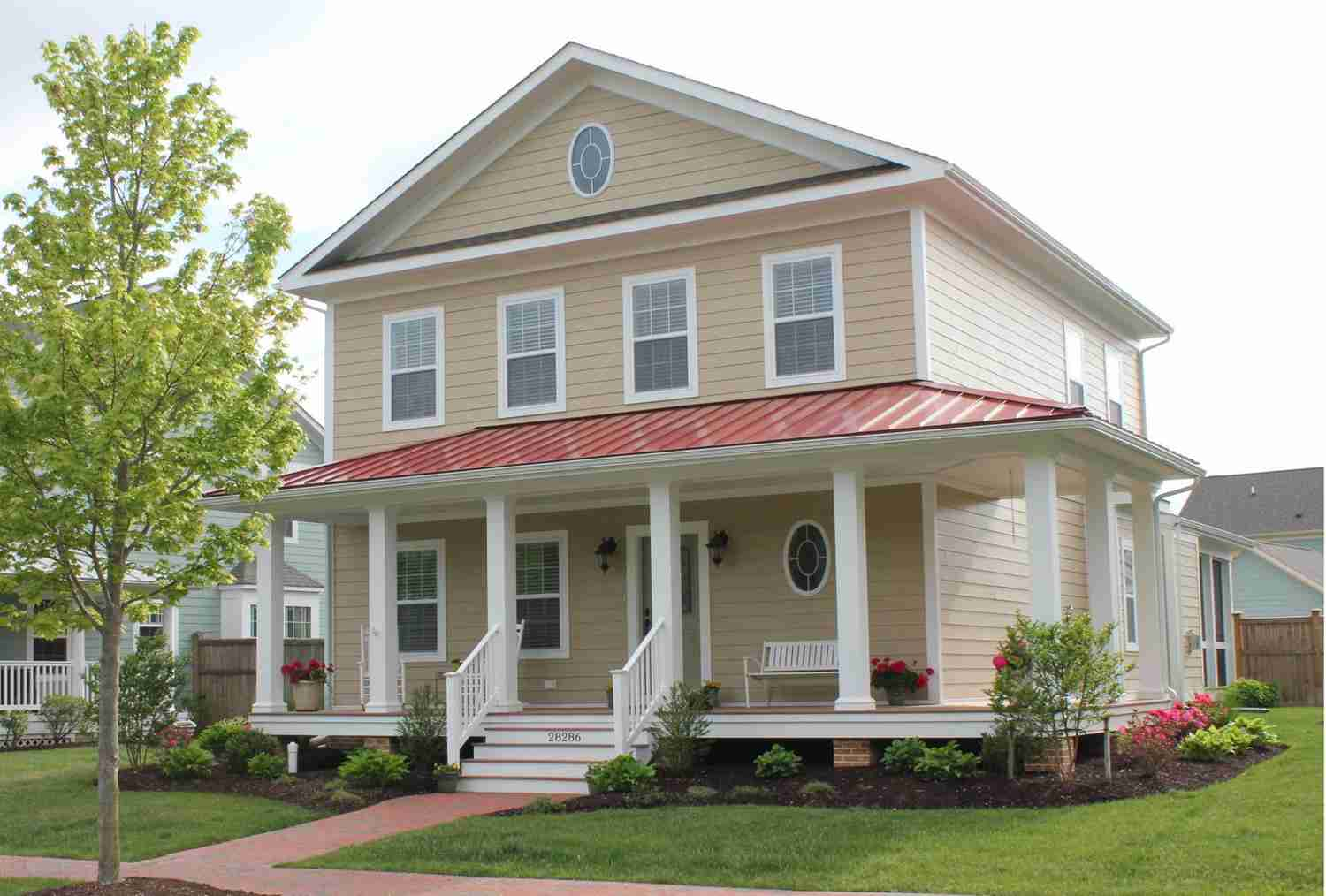 Galveston Legacy with Railess Wraparound Porch and Turn Gable Roof