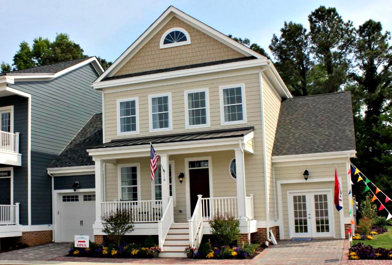 Front Elevation Roof : Chatham legacy villa home plan by covell communities in
