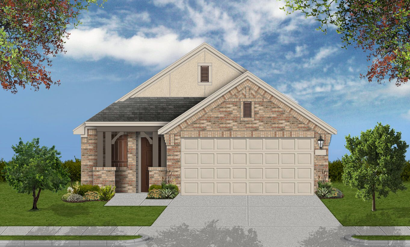 Exterior featured in the Muenster By Coventry Homes in Houston, TX