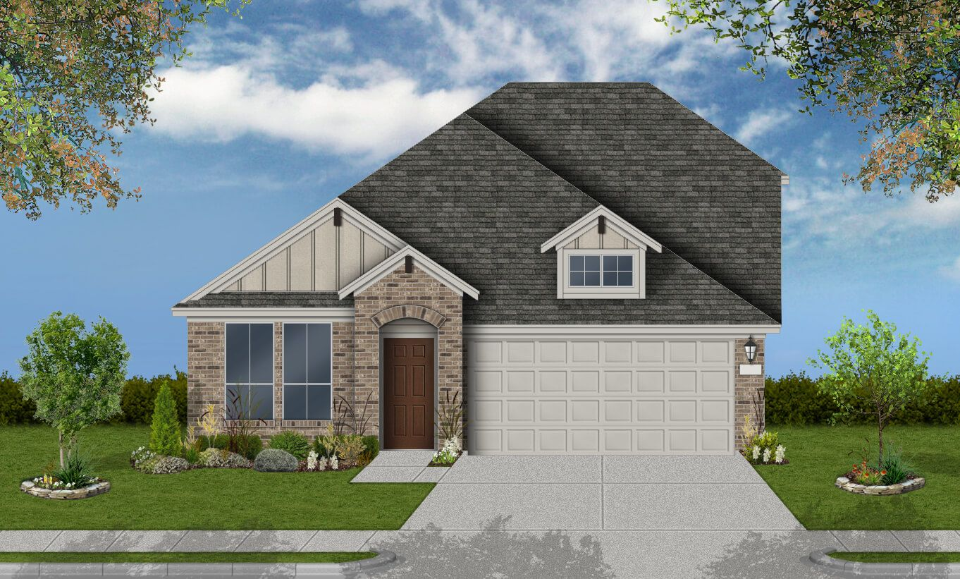 Exterior featured in the Girard By Coventry Homes in San Antonio, TX