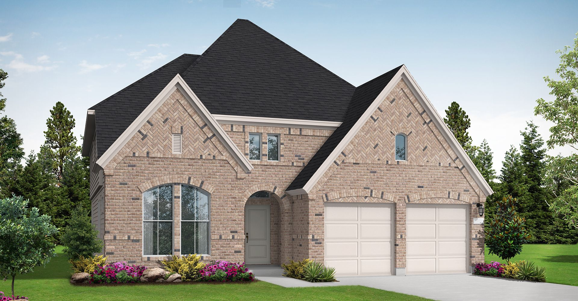 Exterior featured in the Justin By Coventry Homes in Houston, TX