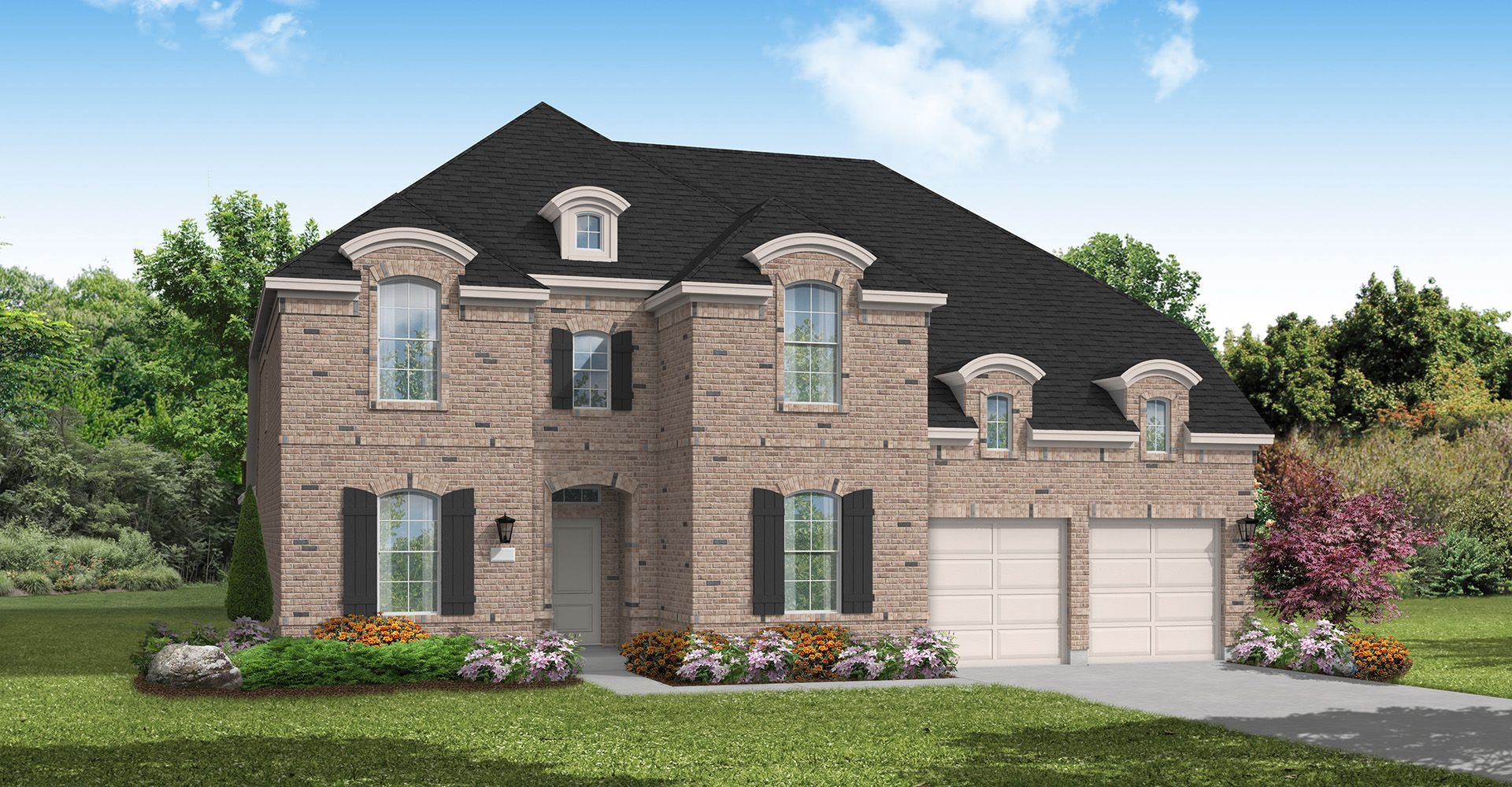 Exterior featured in the Bevil Oaks By Coventry Homes in Dallas, TX