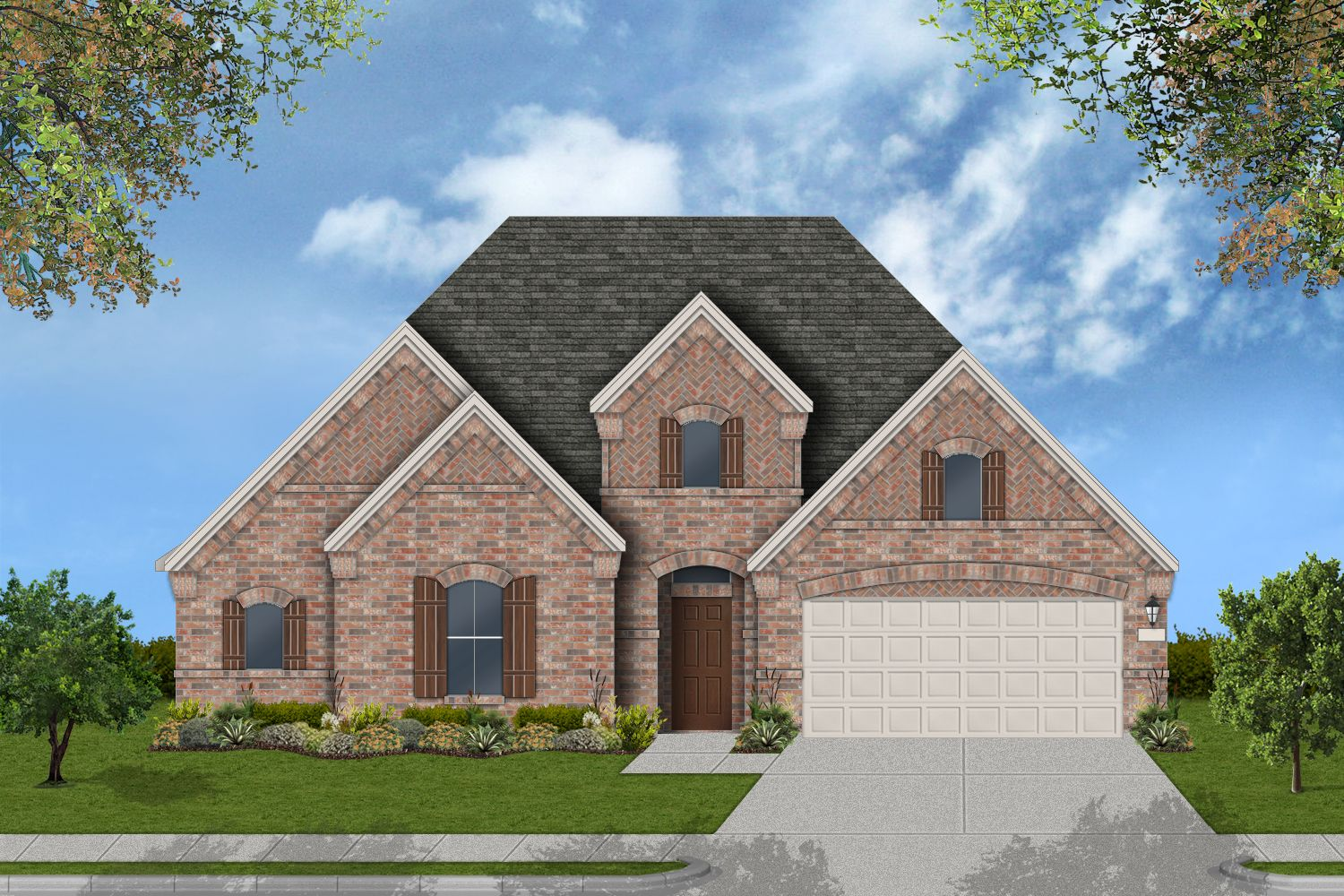 Exterior featured in the Scottsville By Coventry Homes in Houston, TX