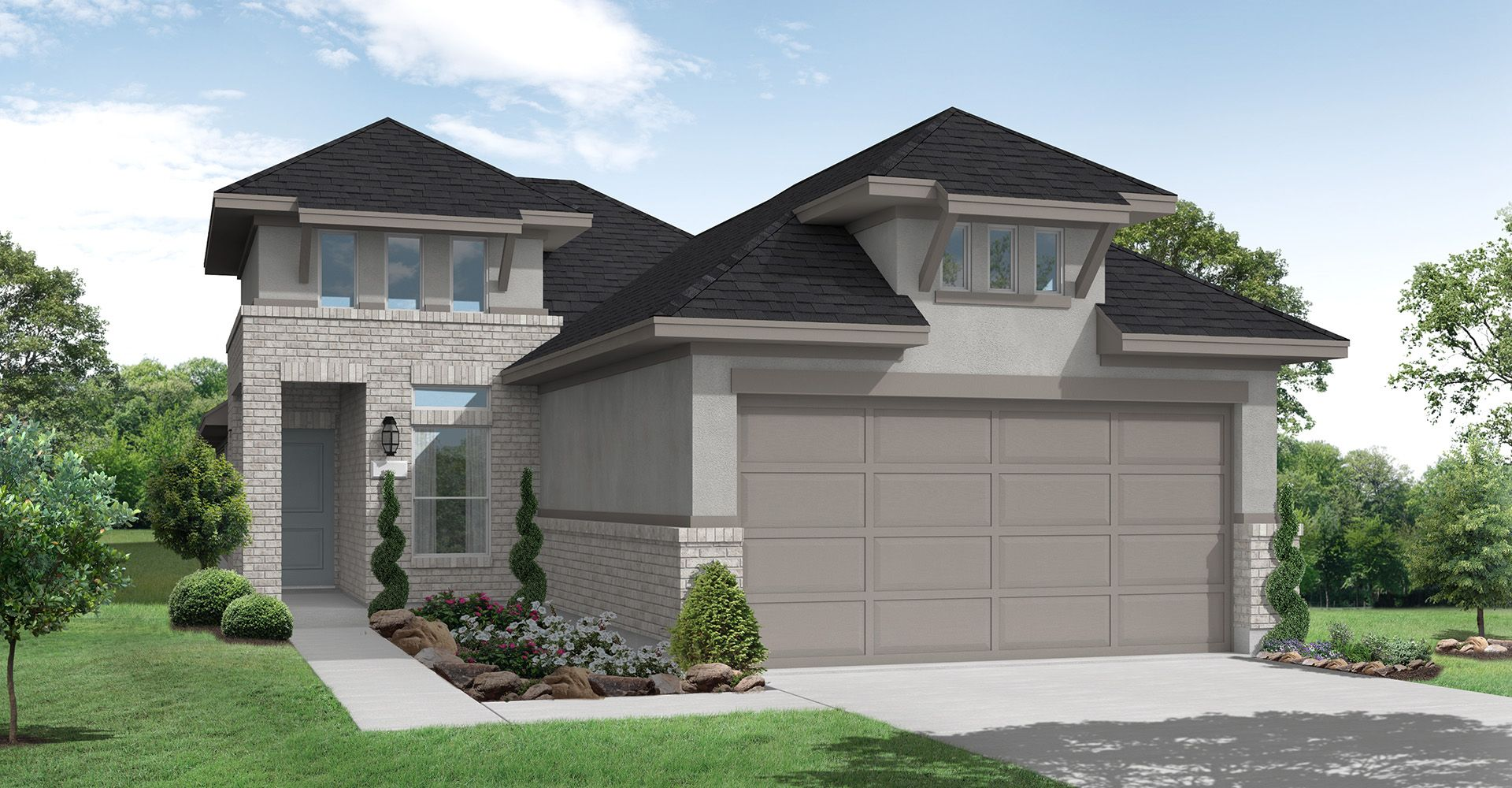 Exterior featured in the Groves By Coventry Homes in Houston, TX