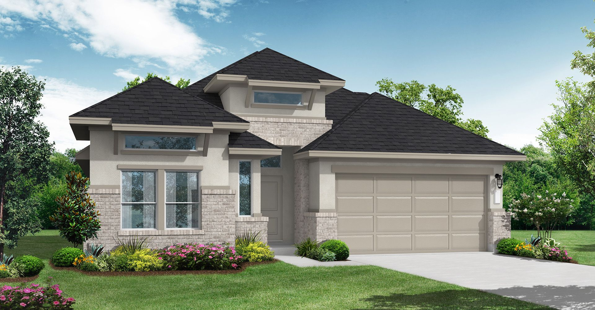 Exterior featured in the Fulshear By Coventry Homes in Houston, TX