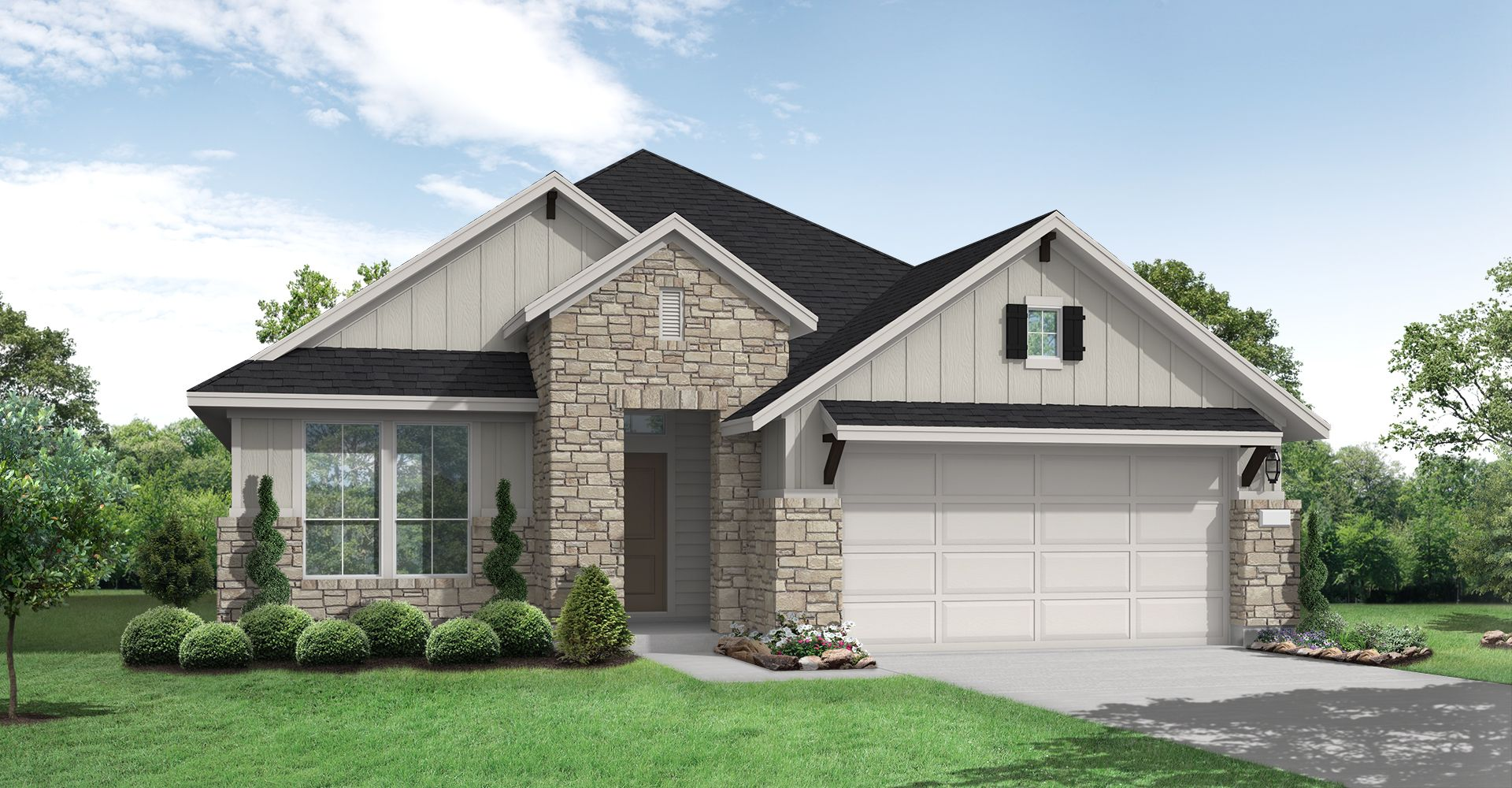 Exterior featured in the Follett By Coventry Homes in San Antonio, TX