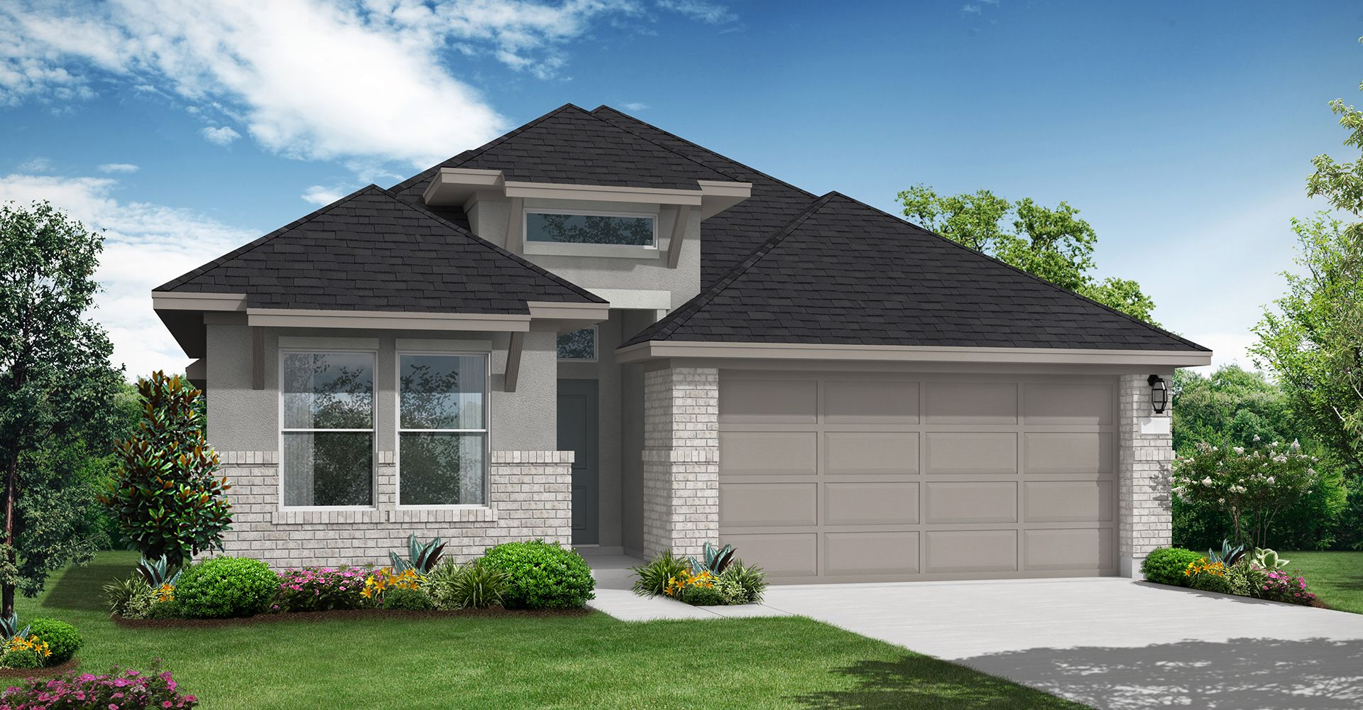 Exterior featured in the Carmine By Coventry Homes in Houston, TX
