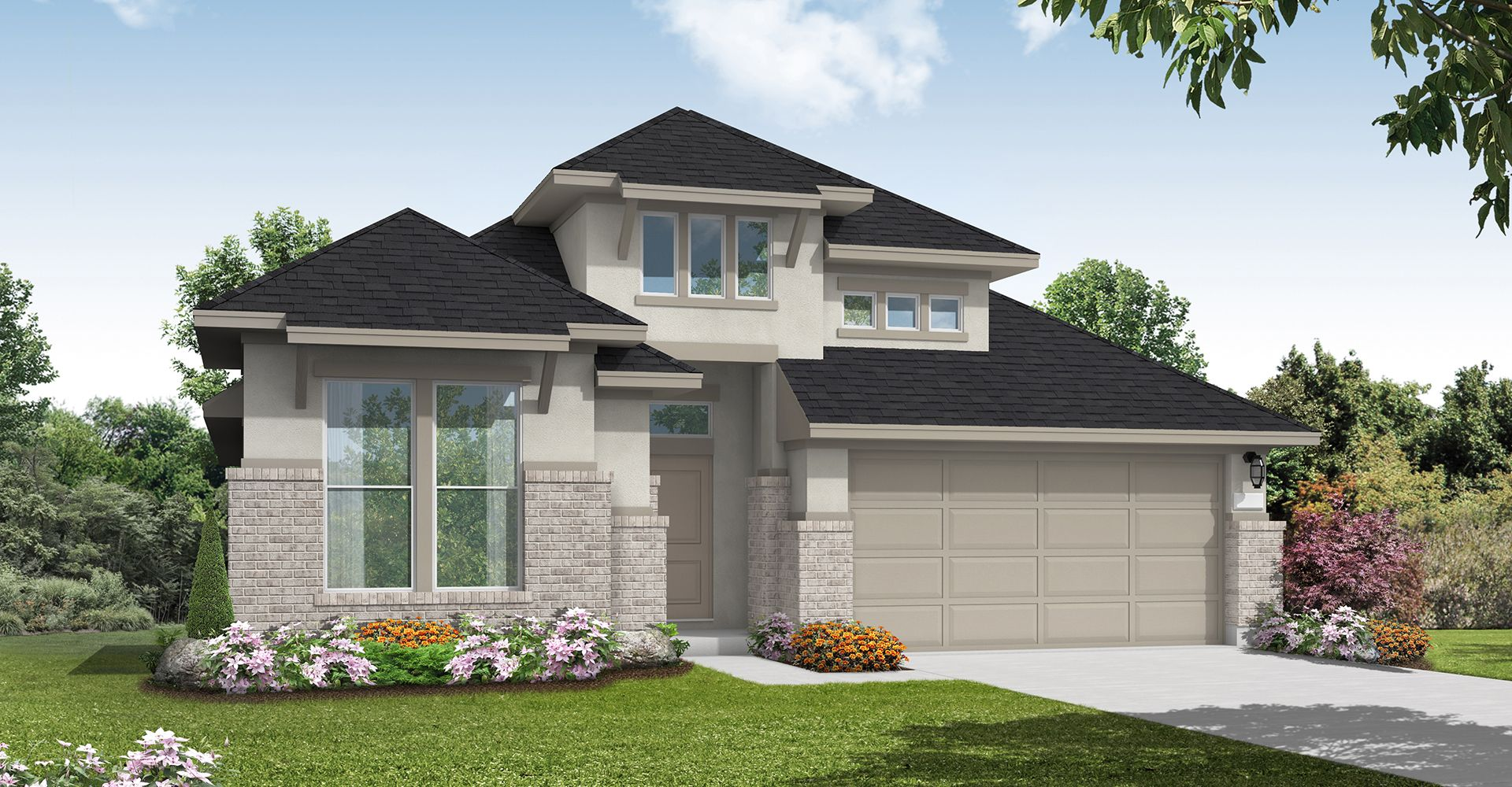 Exterior featured in the Kempner By Coventry Homes in Houston, TX
