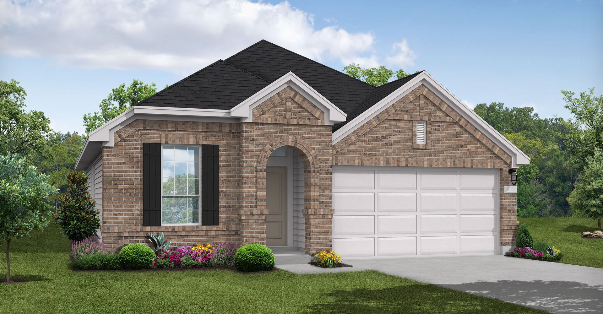 Exterior featured in the Hobson By Coventry Homes in San Antonio, TX