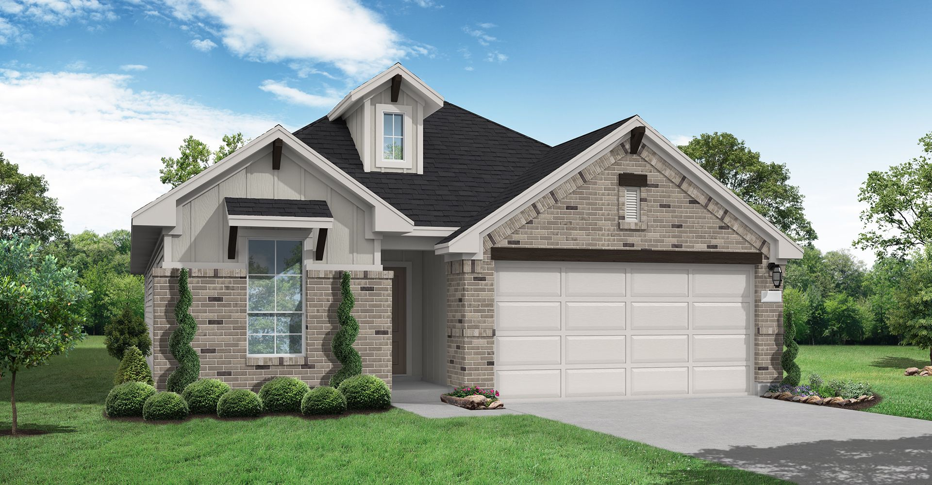 Exterior featured in the Liberty By Coventry Homes in San Antonio, TX