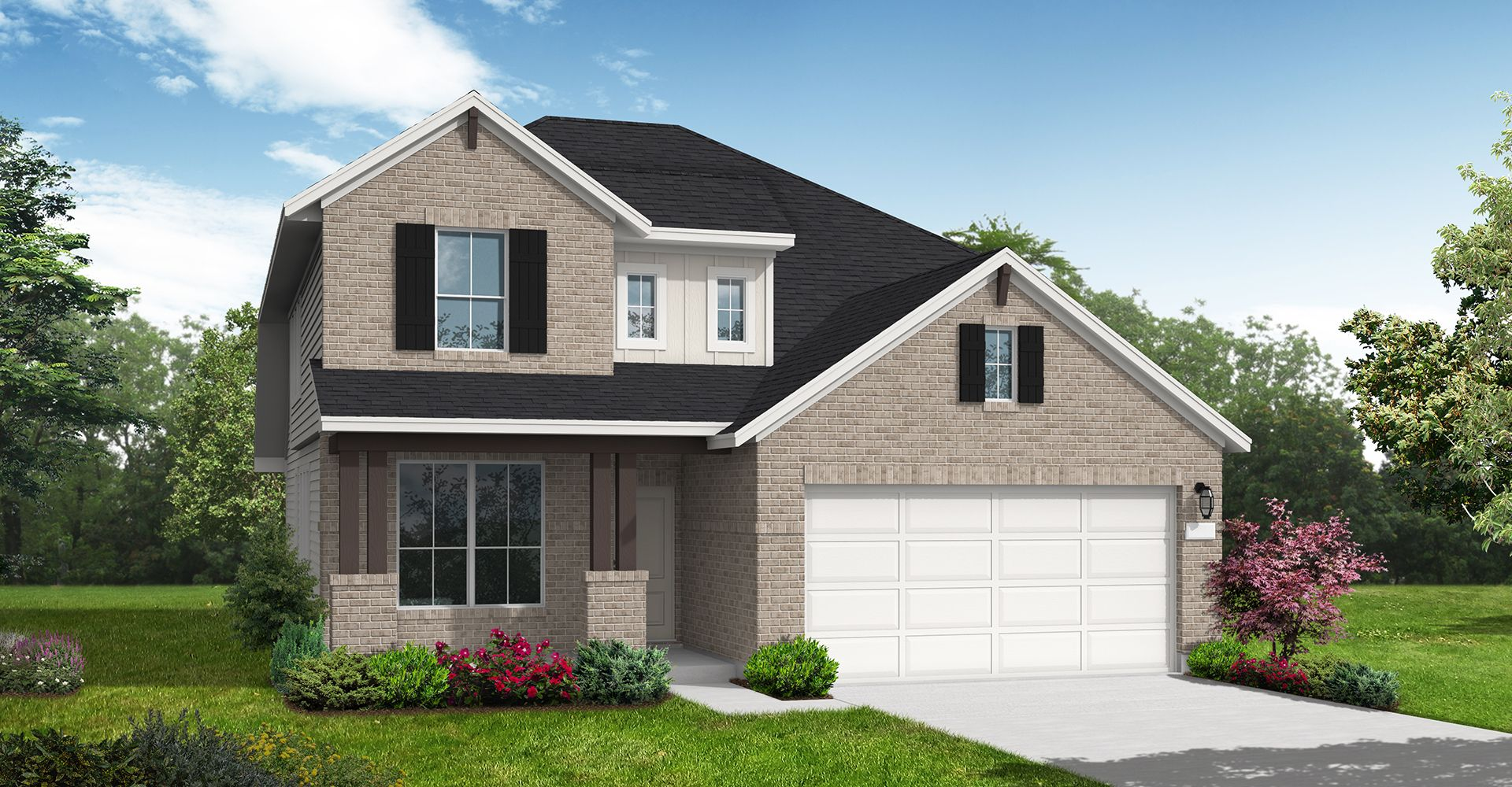 Exterior featured in the Woodlake By Coventry Homes in San Antonio, TX