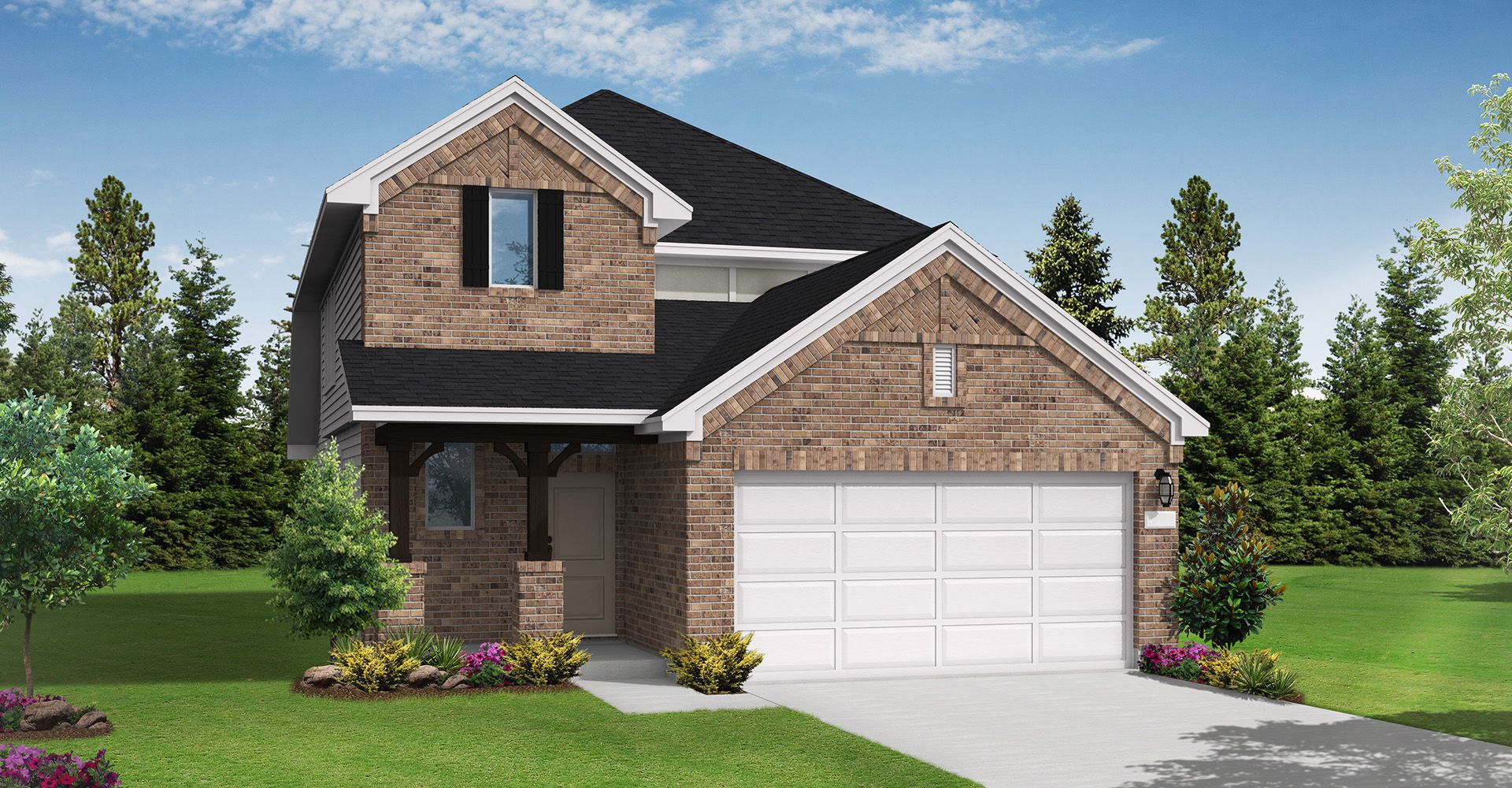 Exterior featured in the Progreso By Coventry Homes in Houston, TX