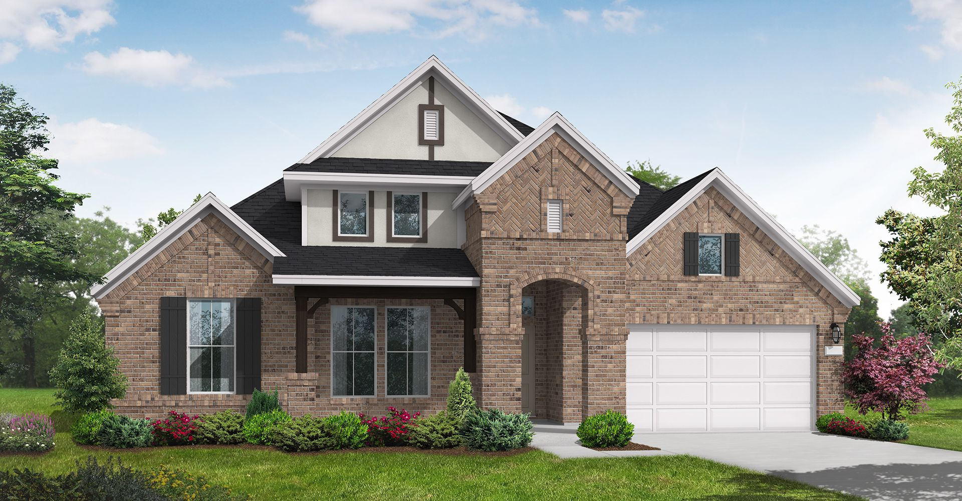 Exterior featured in the Frisco By Coventry Homes in Houston, TX