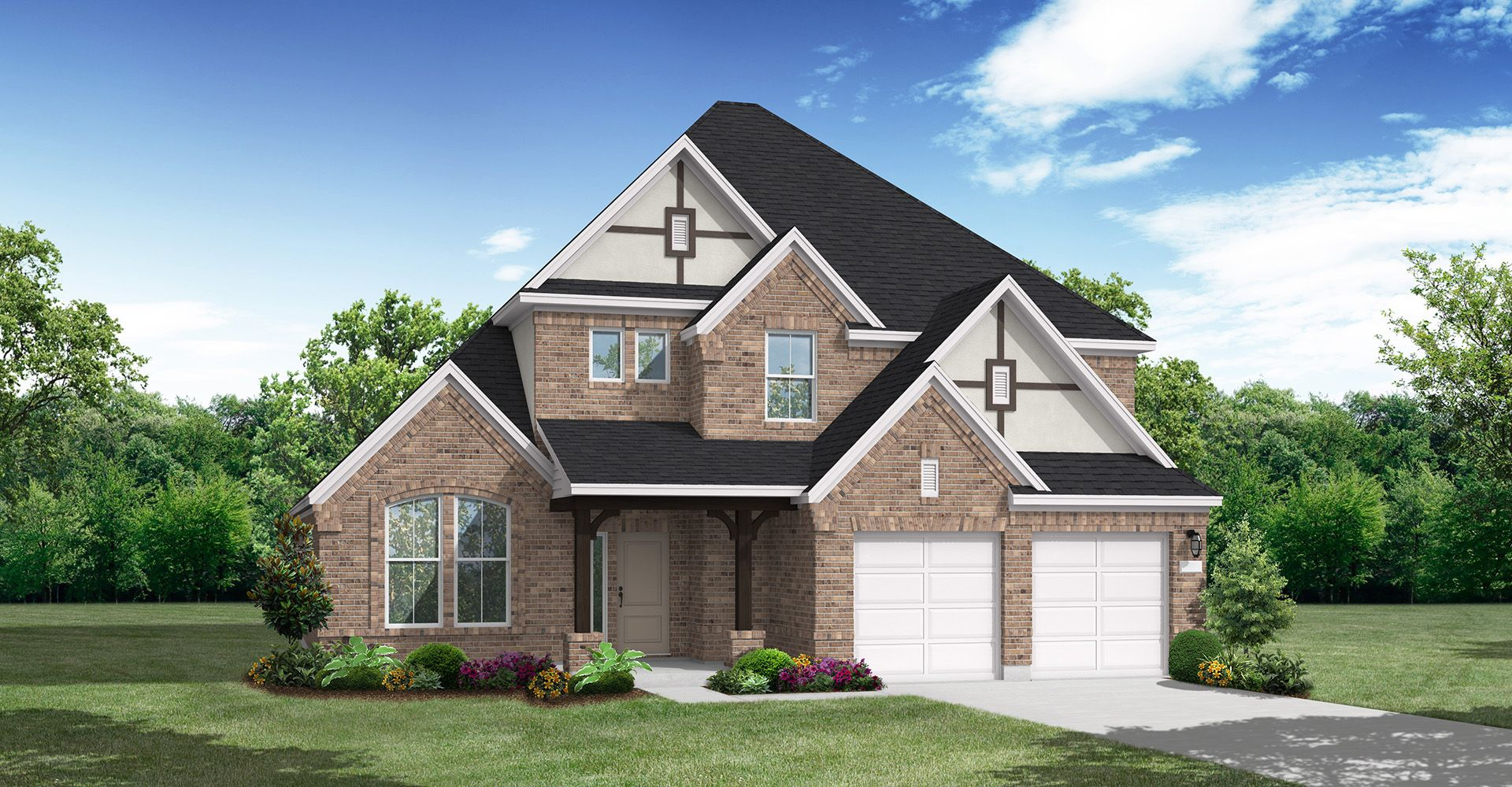 Exterior featured in the Buescher By Coventry Homes in Houston, TX