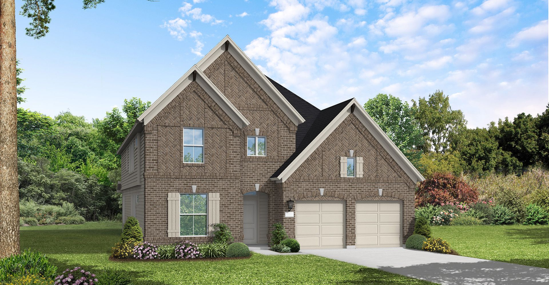 Exterior featured in the Chappel Hill By Coventry Homes in Houston, TX